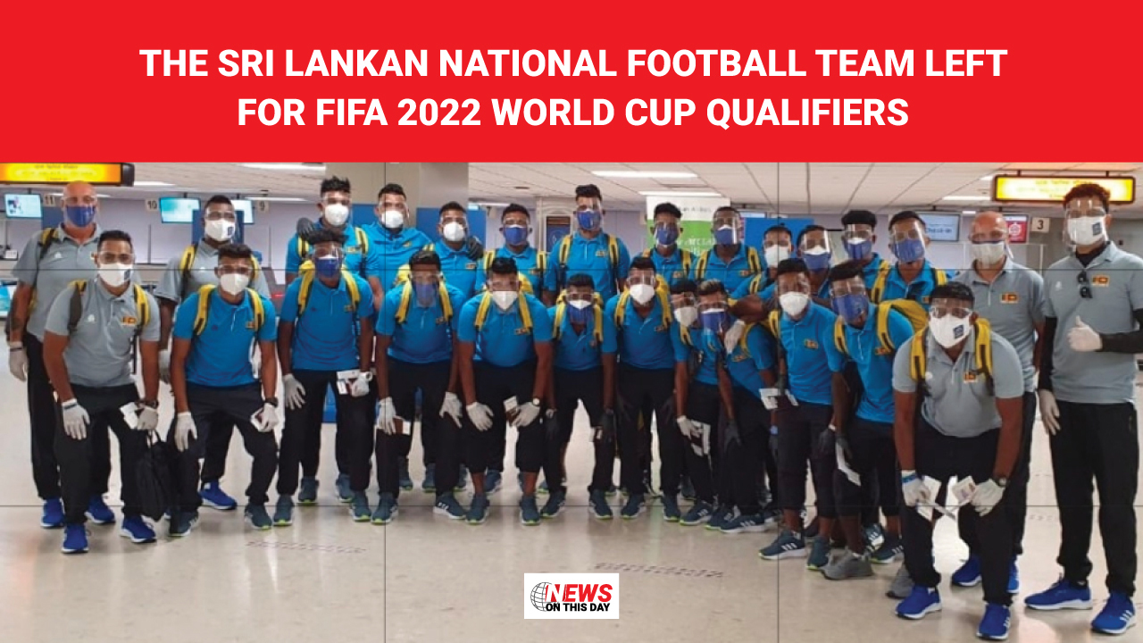 The Sri Lankan National Football team left for FIFA 2022 World Cup qualifiers